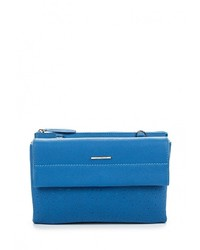Синяя кожаная сумка через плечо от Leo Ventoni