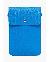 Синяя кожаная сумка через плечо от Mellizos