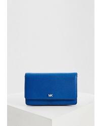 Синяя кожаная сумка через плечо от MICHAEL Michael Kors