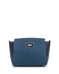 Синяя кожаная сумка через плечо от Palio