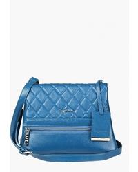 Синяя кожаная сумка через плечо от Sergio Belotti