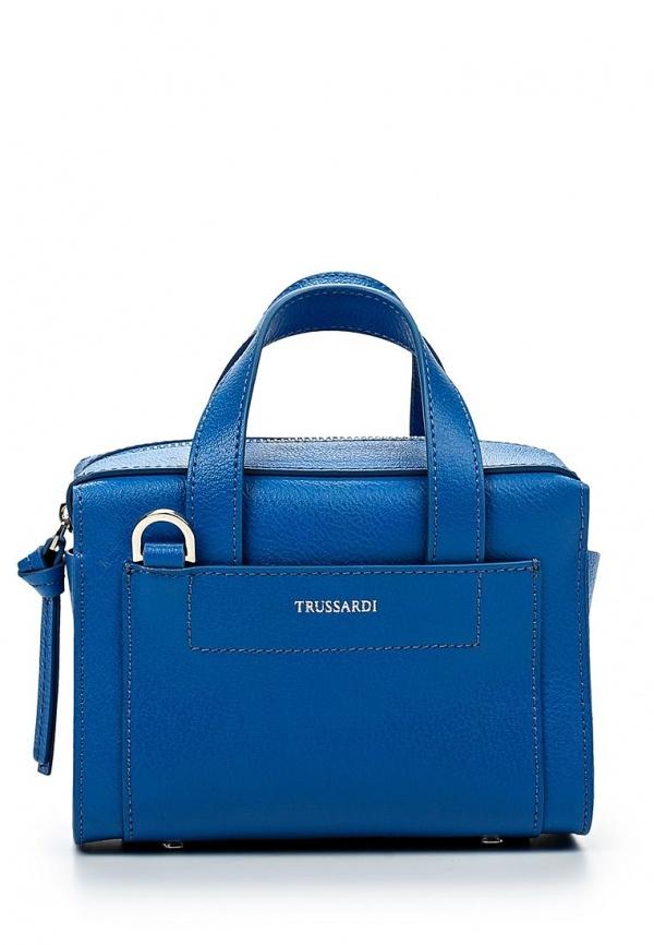 250237d06a57 Синяя кожаная сумка через плечо от Tru Trussardi, 22 999 руб ...