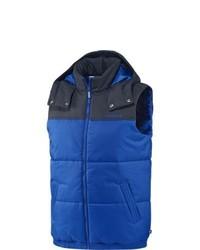 Мужская синяя куртка без рукавов от adidas