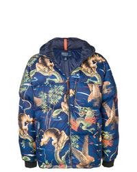 Мужская синяя куртка-пуховик с принтом от Polo Ralph Lauren