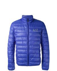 Синяя куртка-пуховик
