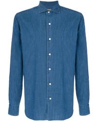 Синяя куртка-рубашка