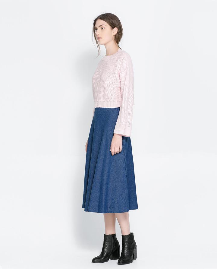 Zara юбка синяя