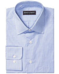 Синяя рубашка с длинным рукавом в клетку