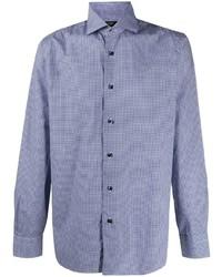 Мужская синяя рубашка с длинным рукавом от Barba