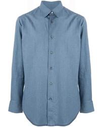 Мужская синяя рубашка с длинным рукавом от Brioni