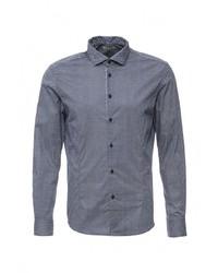 Мужская синяя рубашка с длинным рукавом от Forex
