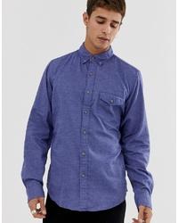 Мужская синяя рубашка с длинным рукавом от J.Crew Mercantile