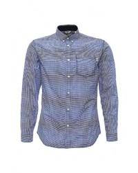 Мужская синяя рубашка с длинным рукавом от Jack & Jones