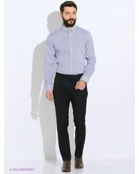 Мужская синяя рубашка с длинным рукавом от Oodji