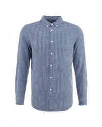 Мужская синяя рубашка с длинным рукавом от Topman