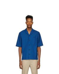 Мужская синяя рубашка с коротким рукавом от 3.1 Phillip Lim