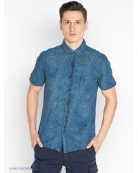 Мужская синяя рубашка с коротким рукавом от Befree