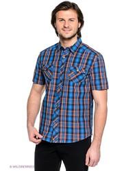 Мужская синяя рубашка с коротким рукавом от FiNN FLARE