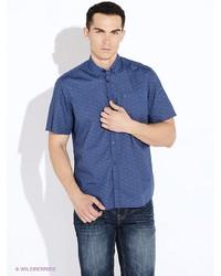 Мужская синяя рубашка с коротким рукавом от LERROS