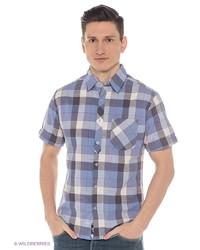 Мужская синяя рубашка с коротким рукавом от Mavango