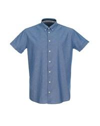 Мужская синяя рубашка с коротким рукавом от Pre End