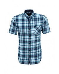 Мужская синяя рубашка с коротким рукавом от s.Oliver Denim