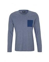 Мужская синяя футболка с длинным рукавом от s.Oliver Denim
