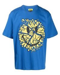 Мужская синяя футболка с круглым вырезом с принтом от Chinatown Market