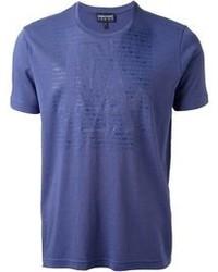 Синяя футболка с круглым вырезом
