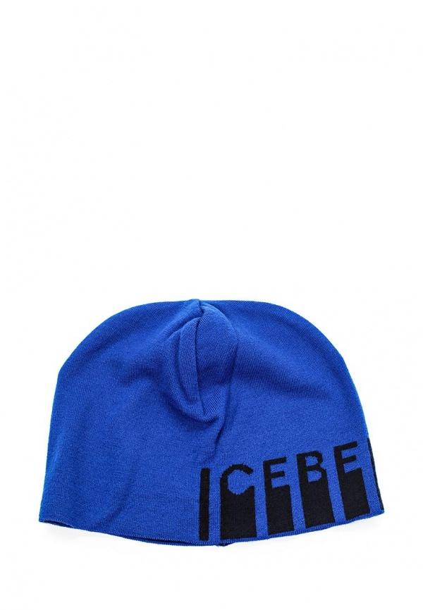 Мужская синяя шапка от Iceberg