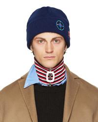 Мужская синяя шапка от Raf Simons