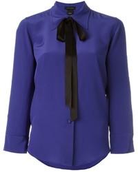 Женская синяя шелковая рубашка от Marc Jacobs