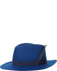 Синяя шерстяная шляпа