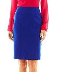 Синяя юбка-карандаш