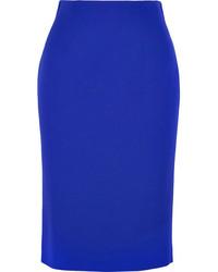 Синяя юбка-миди от Alexander McQueen