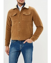 Мужская табачная замшевая куртка-рубашка от Banana Republic