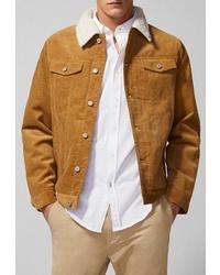 Мужская табачная замшевая куртка-рубашка от SPRINGFIELD