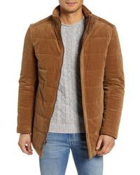 Табачная замшевая полевая куртка