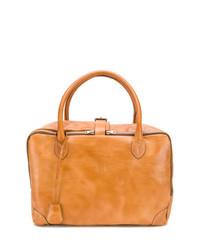 Табачная кожаная большая сумка от Golden Goose Deluxe Brand