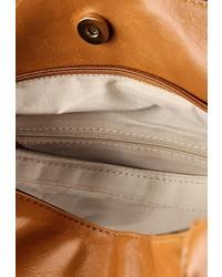 Табачная кожаная большая сумка от Johnny