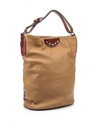 Табачная кожаная большая сумка от Moronero