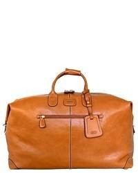 Табачная кожаная спортивная сумка
