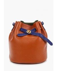 Табачная кожаная сумка-мешок от Cheribags