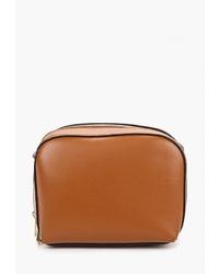 Табачная кожаная сумка через плечо от Dorothy Perkins