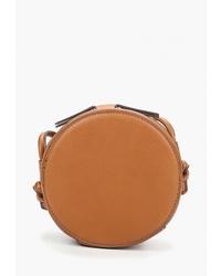 Табачная кожаная сумка через плечо от Mango