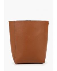 Табачная кожаная сумка через плечо от Modis