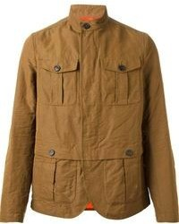 Табачная куртка в стиле милитари