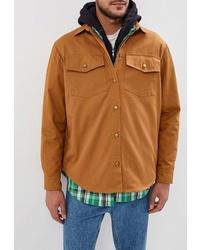 Мужская табачная куртка-рубашка от Artem Krivda