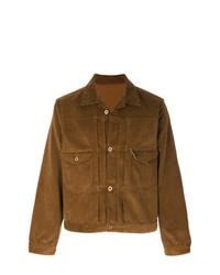 Мужская табачная куртка-рубашка от Fortela