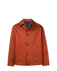 Мужская табачная куртка-рубашка от Golden Goose Deluxe Brand